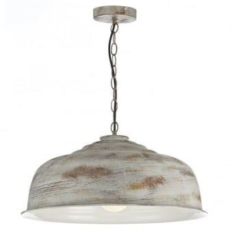 Nara Single Light Pendant with Distressed Rust Finish