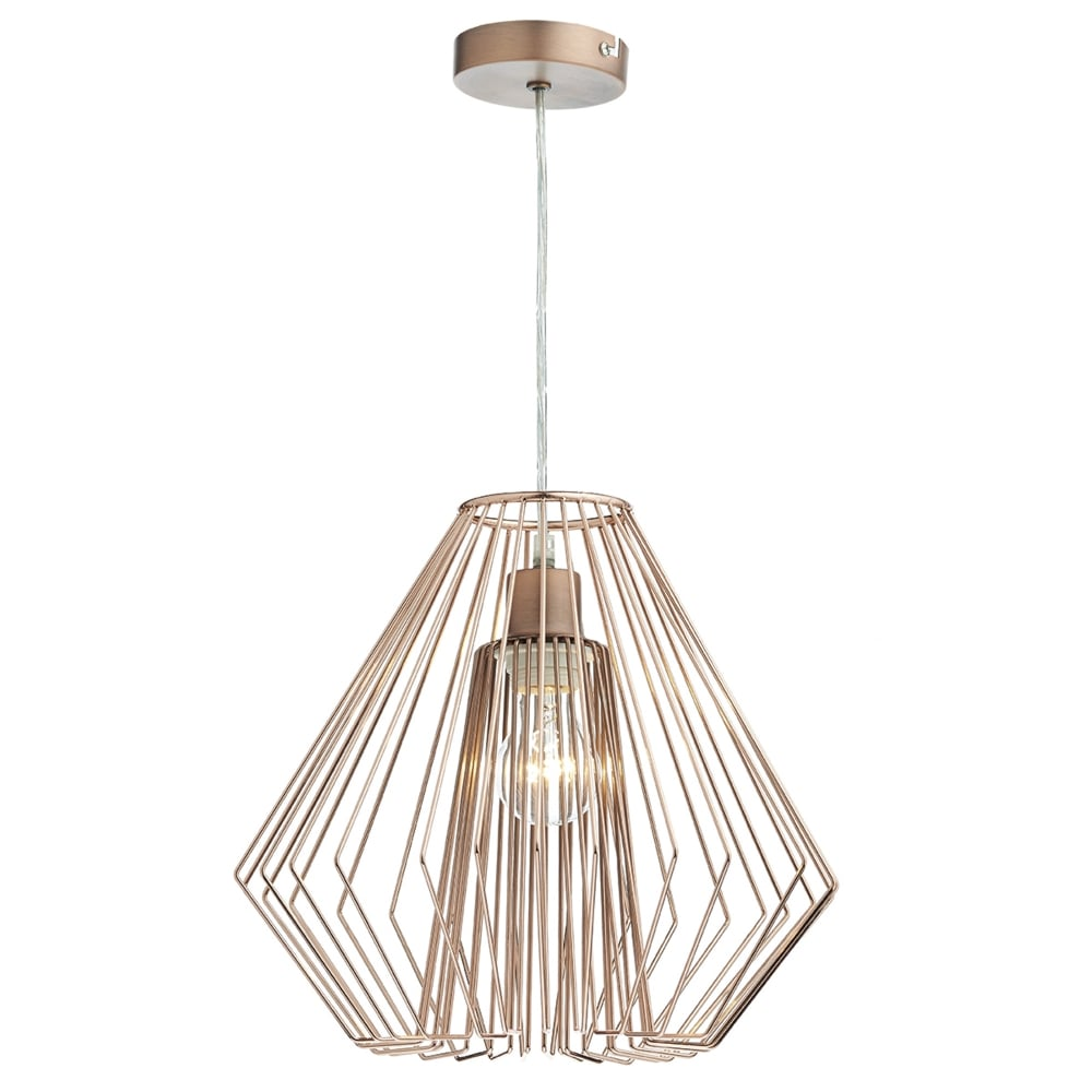 Dar NEE6564 Needle Easy Fit Copper Wirework Pendant Shade