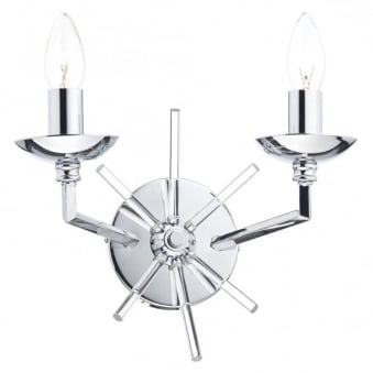 Nepal Double Wall Light in Polished Chrome