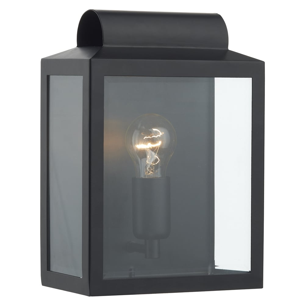 Clipsal Exterior Wall Lights : Dar Lighting Notary Exterior Wall Light in Black - Fitting Type from Dusk Lighting UK