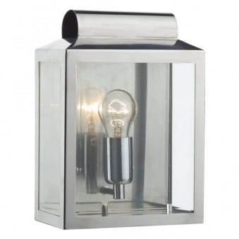 Notary Exterior Wall Light in Stainless Steel