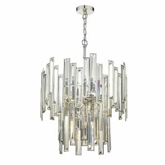 Odile Six Light Champagne Crystal Pendant