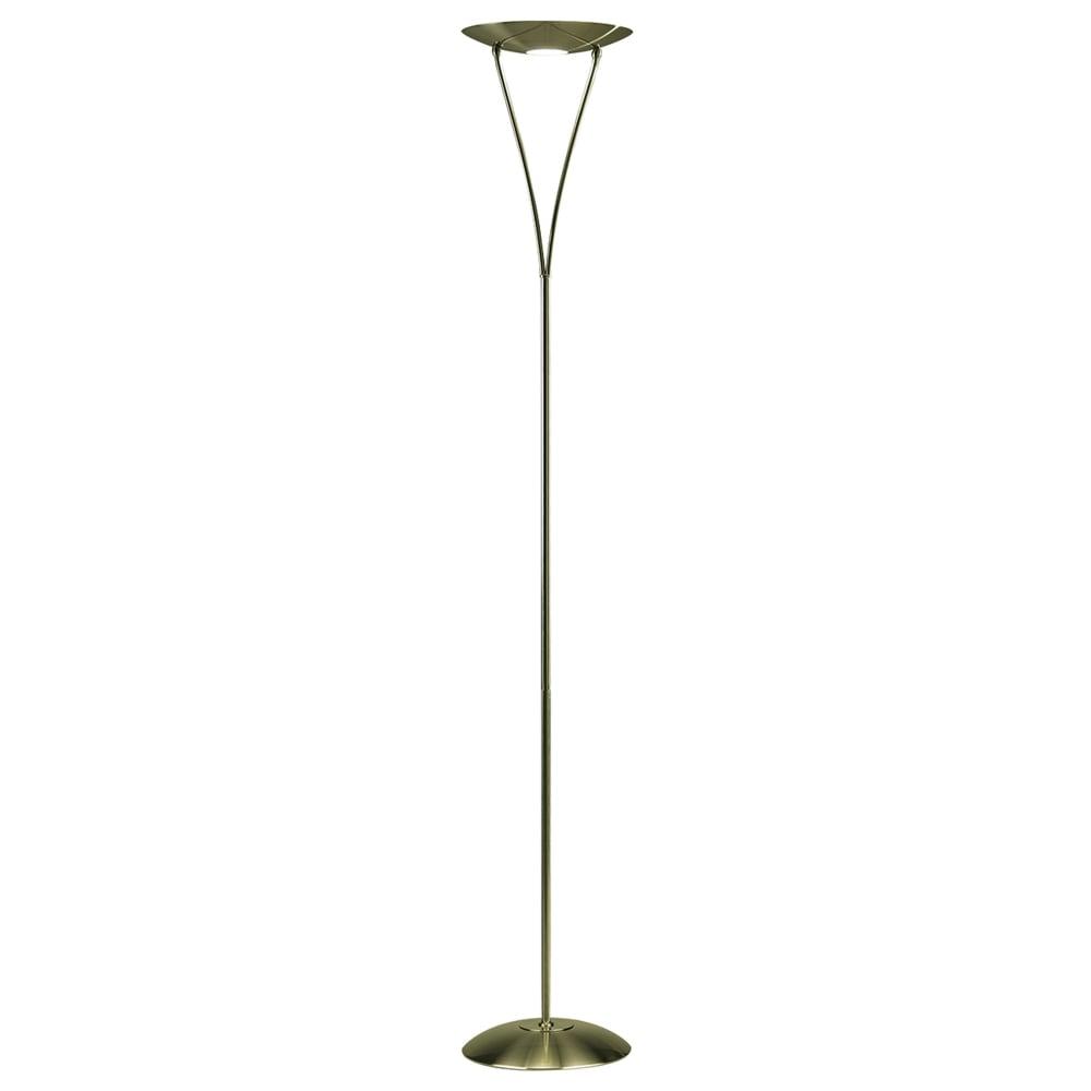 Dar Lighting Opus Dimmable Uplighter Floor Lamp In Antique