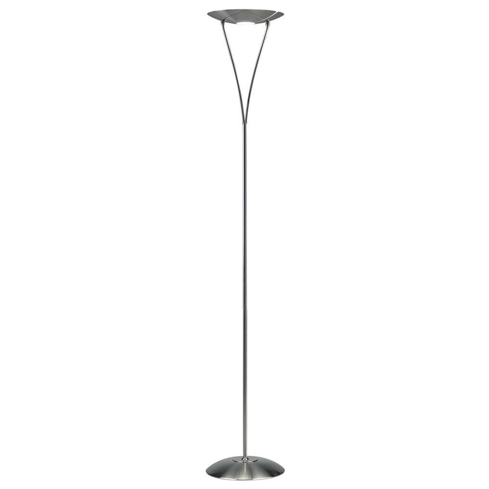Dar lighting opus dimmable uplighter floor lamp in satin chrome opus dimmable uplighter floor lamp in satin chrome aloadofball Images