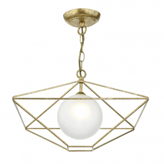 Orsini Old Gold Open Frame Pendant