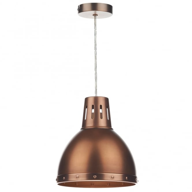 Dar Lighting Osaka Antique Copper Easy Fit Small Pendant Shade