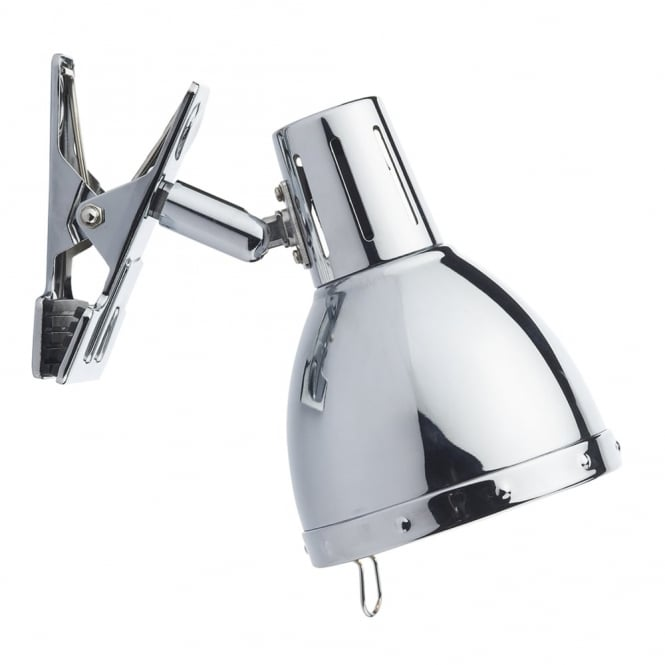 Dar Lighting Osaka Clip On Wall Lamp in Polished Chrome