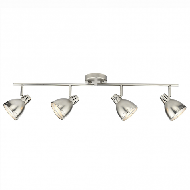 Dar Lighting Osaka Four Light Spotlight Bar Pendant in Antique Chrome
