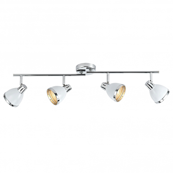 Dar Lighting Osaka Four Light Spotlight Bar Pendant in Gloss White