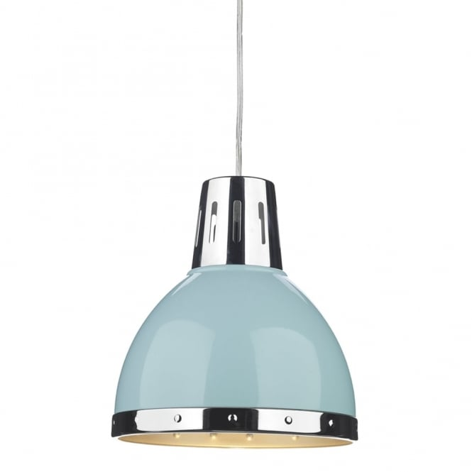 Dar Lighting Osaka Pale Blue Easy Fit Small Pendant Shade