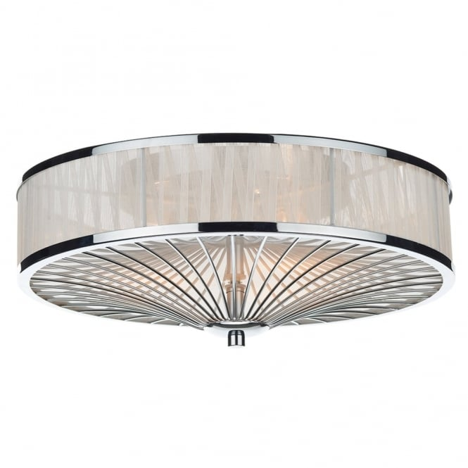 Dar Lighting Oslo Flush Ceiling Light in White