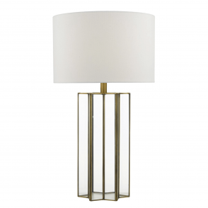 Osuna Glass and Aged Brass Table Lamp