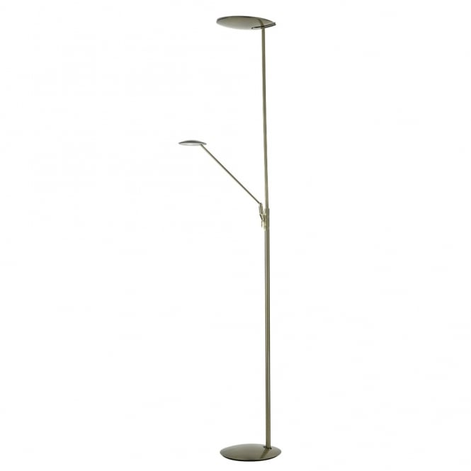 Dar Lighting Oundle Mother and Child Floor Lamp in Bronze