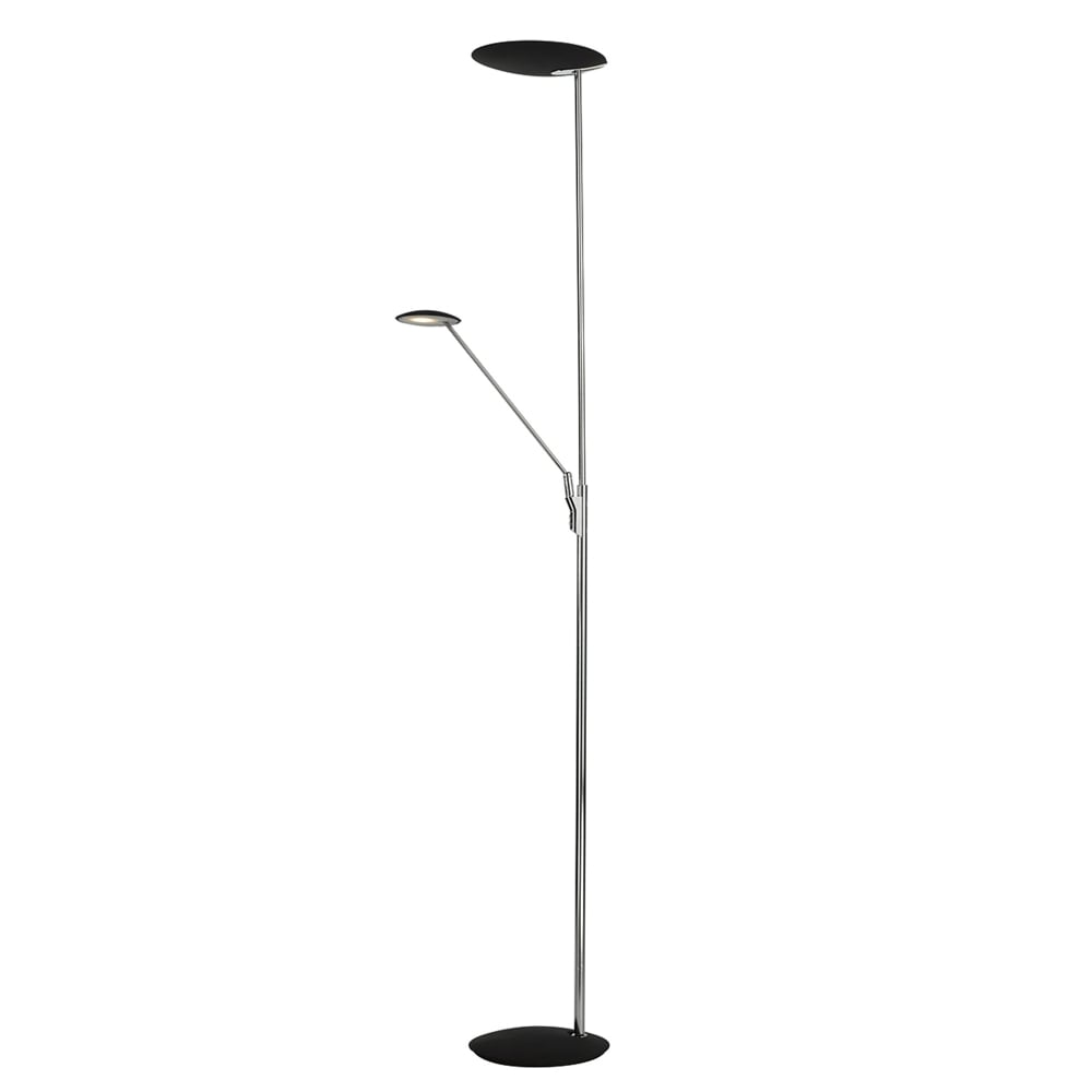 Dar Lighting Oundle Mother and Child Floor Lamp in Chrome and Black ...