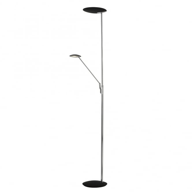 Dar Lighting Oundle Mother and Child Floor Lamp in Chrome and Black