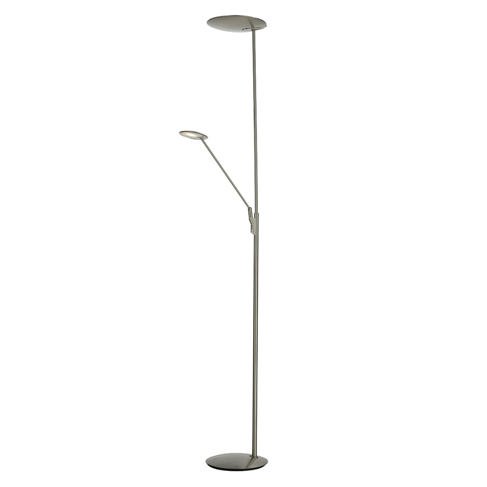 Dar lighting oundle mother and child floor lamp in satin nickel oundle mother and child floor lamp in satin nickel aloadofball Image collections