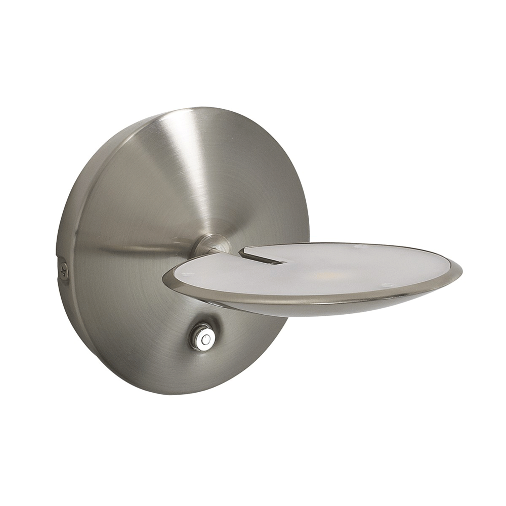 Dar oun0746 oundle satin nickel led dimmable wall light oundle satin nickel led dimmable wall light aloadofball Image collections