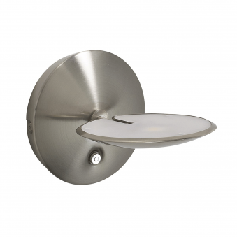 Oundle Satin Nickel LED Dimmable Wall Light