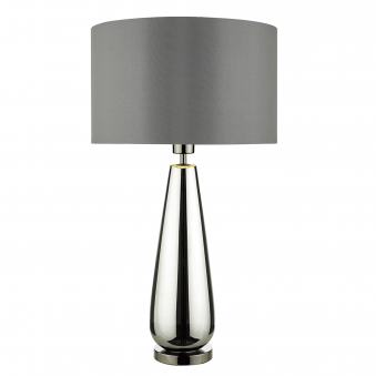 Pablo Table Lamp with Black Chrome Glass Base