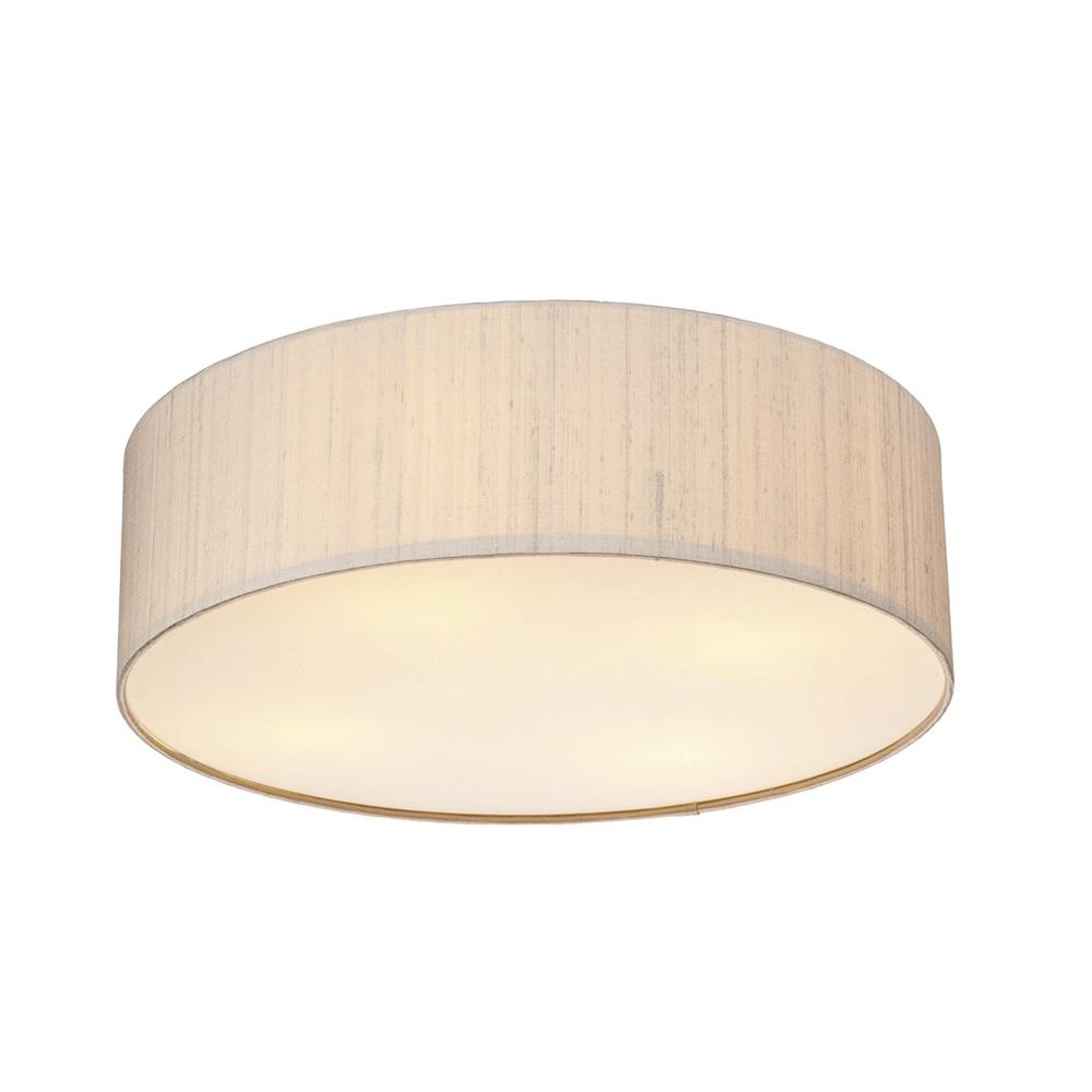 Dar Lighting Paolo 500mm Silk Semi Flush Ceiling Light