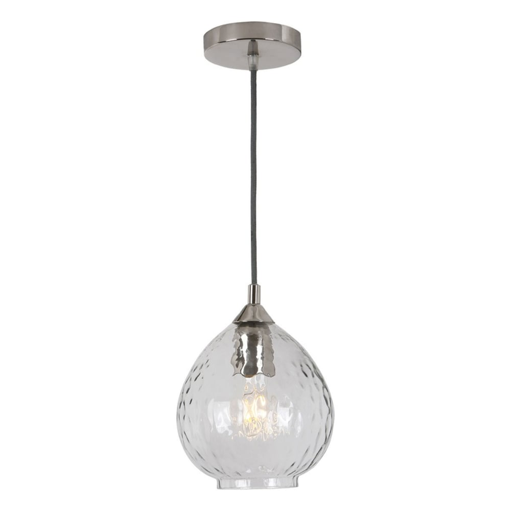 Dar pechara pec8638 nickel and dimpled glass small pendant pechara nickel and dimpled glass small pendant light aloadofball Image collections