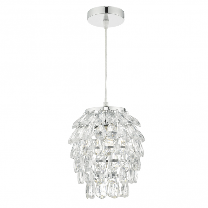 Dar Lighting Primose Acrylic and Chrome Easy Fit Shade
