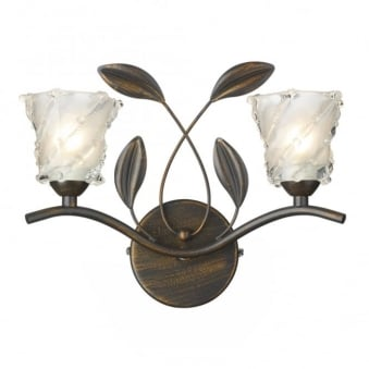Prunella Double Wall Light in Bronze