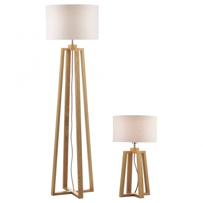 Dar Lighting Pyramid Table & Floor Lamp Twinpack
