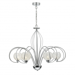 Rafferty Six Light Polished Chrome Dual Mount Pendant