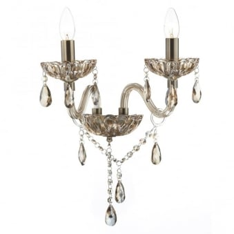 Raphael Double Wall Light with Champagne Glass