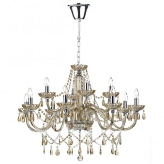 Raphael Twelve Light Chandelier with Champagne Glass