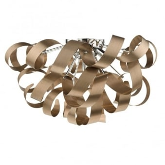 Rawley 5 Light Flush in Matt Brushed Copper