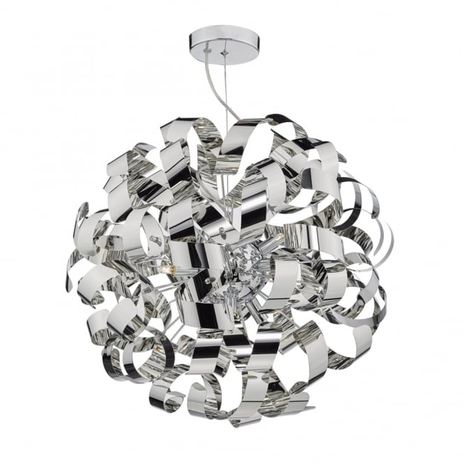 Dar Lighting Rawley 9lt Pendant in Polished Chrome