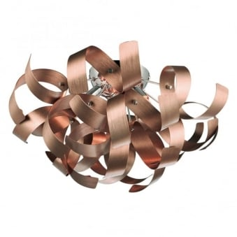 Rawley Flush Ceiling Light in Satin Copper