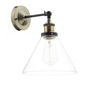Ray Wall Light in Antique Brass