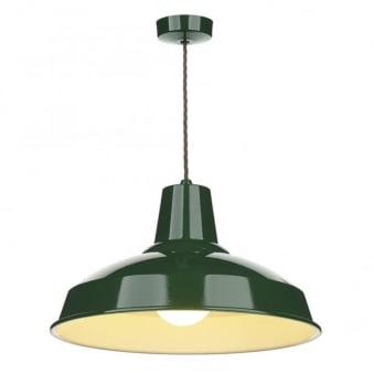 Reclamation Racing Green Pendant Light