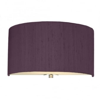 Renoir Blackcurrant Silk Wall Light