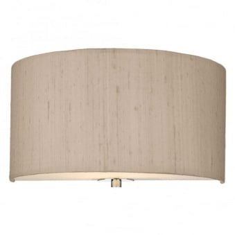 Renoir Taupe Silk Wall Light