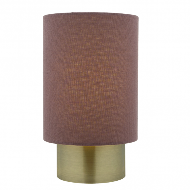 Dar Lighting Robyn Touch Table Lamp in Antique Brass