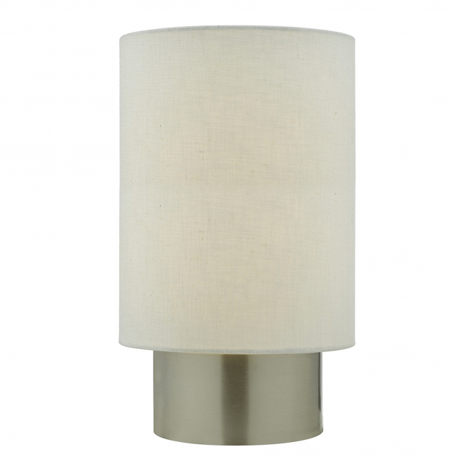 Dar Lighting Robyn Touch Table Lamp in Satin Chrome