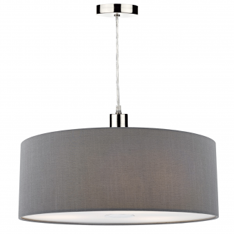 Ronda Large Pendant Shade in Slate Grey