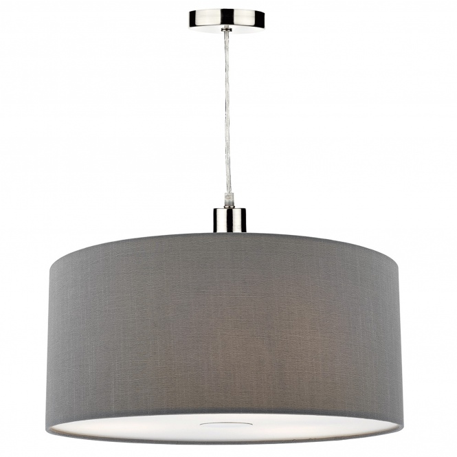 Dar Lighting Ronda Small Pendant Shade in Slate Grey