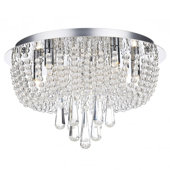 Dar Lighting Saigon 5 Light Ceiling Light in Polished Chrome