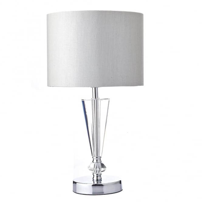 Dar Lighting Scipio Table Lamp in Crystal Glass and Polished Chrome