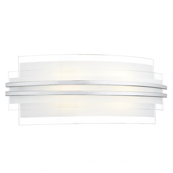 Dar Lighting Sector LED Large Wall Light with Clear and Frosted Glass