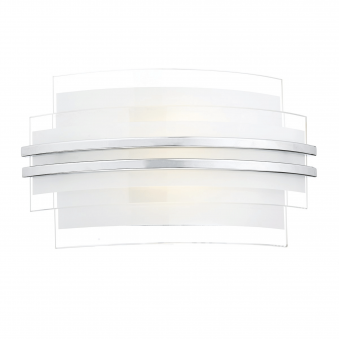 Sector LED Small Wall Light with Clear and Frosted Glass