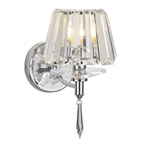 Selina Wall Light in Crystal and Polished Chrome