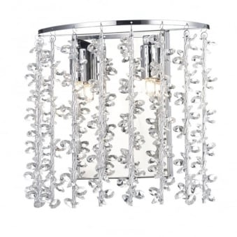 Sestina Double Wall Light in Crystal Glass