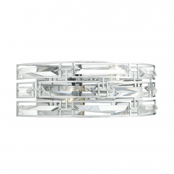 Seville Two Light Crystal Wall Light in Polished Chrome