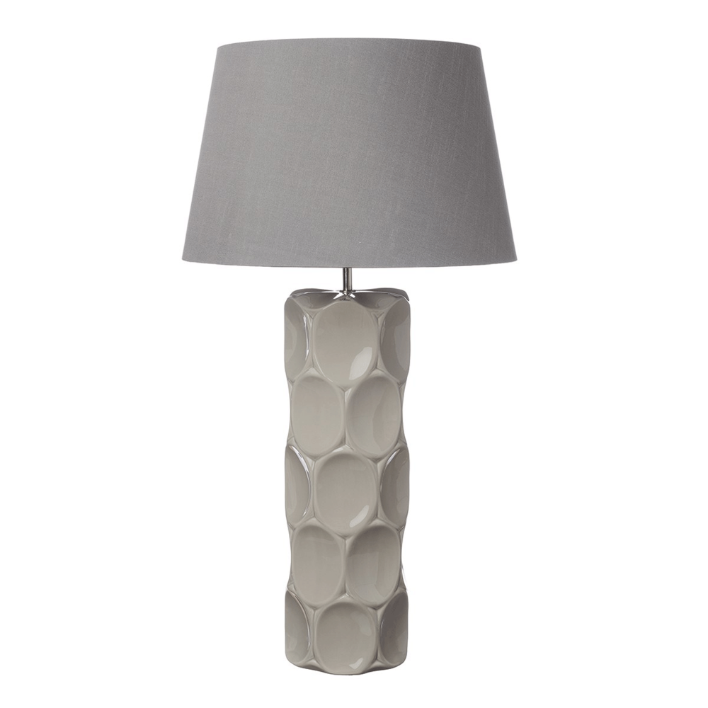 Merveilleux Sintra Taupe Ceramic Table Lamp Base